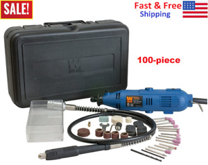 WEN Variable Speed Rotary Tool Kit Dremel Rotary Grinder Cutter with Flex Shaft