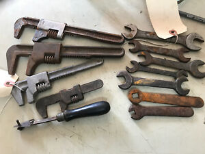 Vintage Lot of 12 Adjustable Square and Open End Wrenches $60.00