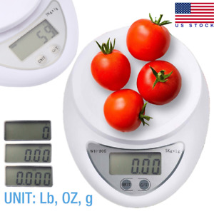 Digital Kitchen Food Cooking Scale Weigh in Pounds Grams Ounces and KG USA