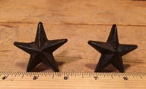 Cast Iron Nail Star 2quot; wide Western Crafts Set of Two 02111