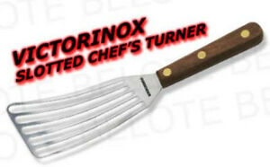 Victorinox 6.25quot; Slotted Chef#x27;s Turner Fish Spatula Walnut 40415 NEW
