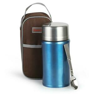 Insulated Food Thermos 1000ml Hot Soup Container Stainless Vacuum Lunch Box Jar $25.88