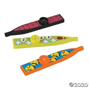 HALLOWEEN 12 Character Kazoos Music Noisemakers Toys Kids Party Favors