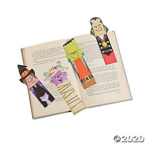 HALLOWEEN 48 Laminated Monster Witch Bookmarks Kids Party Favors