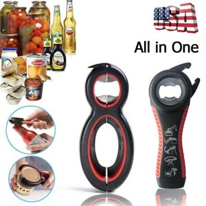 2 Pack All In One Bottle Can Jar Grip Opener Kitchen Safety Lid Twist Off Tool
