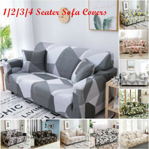 1 2 3 4 Seater US Stretch Sofa Covers Printed Slipcovers for Living Room