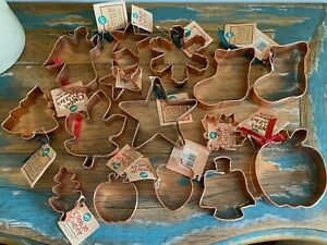 Large Lot of NWT Copper Cookie Cutters Wilton Fall amp; Christmas $29.99