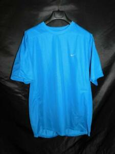Nike XL NWT Blue T Shirt Mens Crew Neck Short Sleeve Cooling New W Tags $14.00