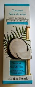 New Coconut Scented Reed Diffuser 1.01 FL OZ With Reeds Fresh