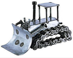 Bulldozer Hand Crafted Recycled Metal Art Sculpture Figurine $29.95