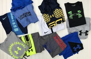 Lot 12 Boys UNDER ARMOUR NIKE Dri Fit Shirts Athletic Shorts YLG Large Steph $129.99