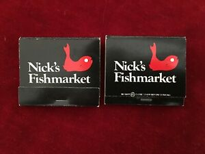 NICK#x27;S FISHMARKET IN CHICAGO amp; HOUSTON MATCHBOOK#x27;S
