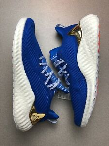 adidas Alphaboost Mens Glory Blue Running Sport Shoes Sneakers G54130 size 9.5 $80.00