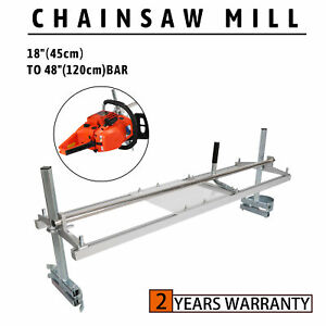 New Portable Chainsaw mill 48quot; Inch Planking Milling 18quot; to 48quot; Guide Bar Rack $56.99