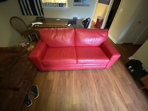 Bassett Furniture Leather Full Sleeper Sofa