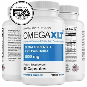 Omega XLT Extra Strength Joint Support Omega 3 Potent Joint Pain Relief 60ct