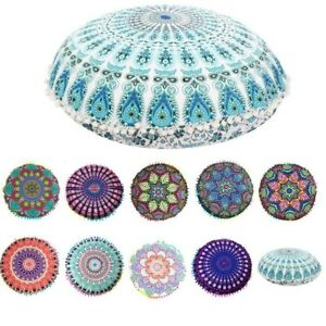Large Round Mandala Meditation Floor Cushion Pillow Cover Tapestry Bohemian Pouf