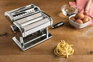Marcato Atlas 150 Pasta Machine Made in Italy Includes Cutter Hand Crank