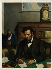 Rare N.C. Wyeth Abe Lincoln 1930s Print A Cherished Memory Thos. D. Murphy $28.50