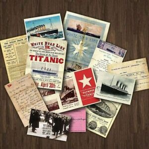 Titanic White Star Line Ocean Ship Travel Memorabilia Replica Documents Pack