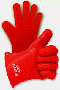 Hot Hands Heat Resistant Silicone Gloves Mitts for Grilling BBQ Kitchen Cooking