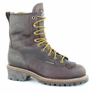 Georgia Boots Mens Loggers Brown Work amp; Safety Boots Size 9 Wide 1429181