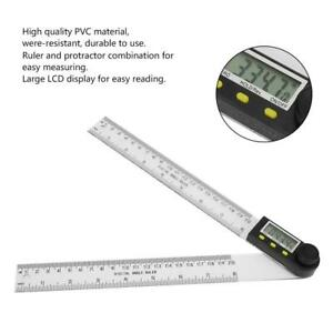 Digital Angle Finder Protractor PVC 0 200mm Durable Electronic Goniometer Ruler $15.24