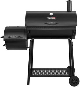 Royal Gourmet CC1830F Charcoal Grill with Offset Smoker Black