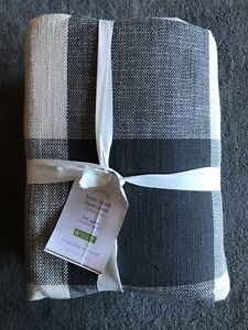 POTTERY BARN BRYCE CHECK FULL QUEEN DUVET W 2 STANDARD SHAMS NEW W TAGS