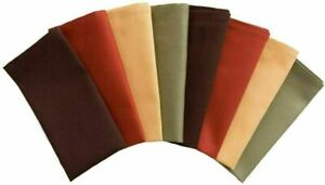 Fall Harvest Cloth Dinner Napkins Set of 8 Assorted Fall Colors