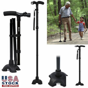 Available HurryCane All Terrain Pivoting Base Foldable Walking Stick Cane 2Style $21.84