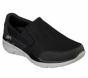 Skechers Extra Wide Fit Black Shoes Men Sporty Comfort Casual Soft Slip On 52984