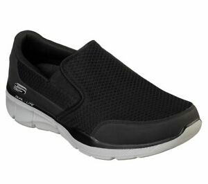 Skechers Extra Wide Fit Black Shoes Men Sporty Comfort Casual Soft Slip On 52984 $39.99