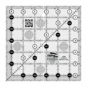 Creative Grids 6 1 2 Inch Square Up Ruler CGR6 CLEAR LINES $14.99