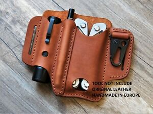EDC leather belt pouch for Leatherman leather sheath multitool EDC organizer men