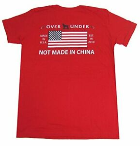 Over Under Youth Made in The USA Tee Shirt yl Red $24.99