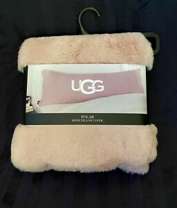 UGG Polar Body Pillow Cover Case Sherpa Blush 20 X 54 Inches. New w Tag $36.99
