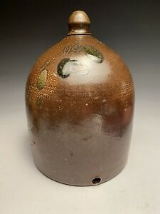 Antique American Early Stoneware Salt Wood Fired Chicken Waterer $250.00