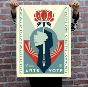 Obey Arts VoteArtsvote SIGNED AND NUMBERED Screen Print LE XX 500 $140.00