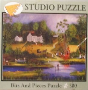 CAMPING ON THE LAKE BY JANET MUNRO Complete BITS amp; PIECES STUDIO PUZZLE
