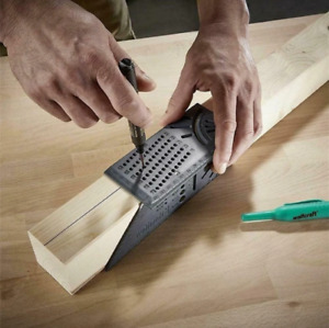 Multifunction 3D Woodworking Ruler Measure 45 90 Degree Angle Mitre Square Size $15.77