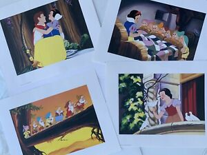 Snow White And The Seven Dwarfs lithographs set of 4 Disney Store Exclusive 2001 $14.99