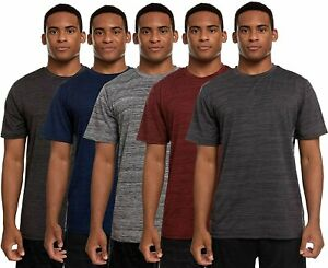 5 Pack: Mens Active Dry Fit Performance Cationic Short Sleeve Top $24.99