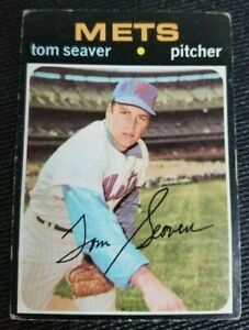 1971 TOPPS BASEBALL CARD #160 TOM SEAVER NEW METS VG CONDITION