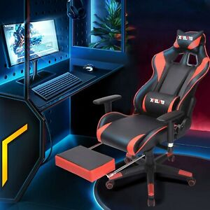 ERGONOMIC GAMING RACING CHAIR COMPUTER DESK SWIVEL OFFICE EXECUTIVE PU LEATHER $99.58