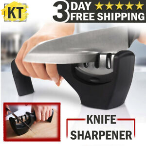 KNIFE SHARPENER PROFESSIONAL CHEF GRADE SYSTEM Tool Ceramic Tungsten 3 Stage
