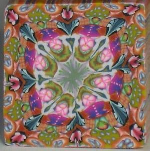 Tropical Garden Kaleidoscope Cane Raw by SueC #636 UNLIMITED CANES SHIP FOR $4