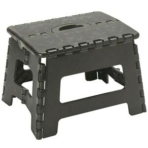 Folding Step Stool Tall Plastic 300lbs New very good and sale cheap $8.99