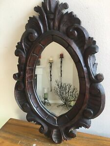 Vintage Wood Rustic Decorative Wall Mirror Hand Made $49.00
