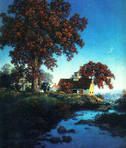 quot; New Moonquot; by Maxfield Parrish $15.95